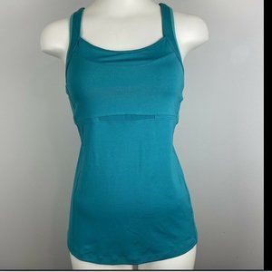 Athleta Double Take Athletic Tank Top Teal Small